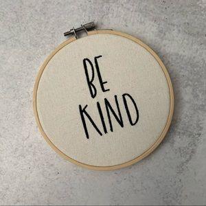 Be Kind Embroidery Hoop